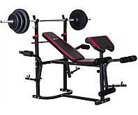 Набор Hop-Sport HS-1020 Premium 78 кг со скамьей 3-2880173, КОД: 1187167