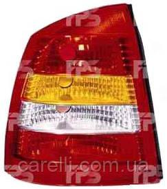 Фонарь задний для Opel Astra G седан '98-09 левый (DEPO) красно-белый
