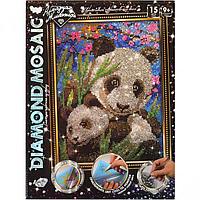 Набор для творчества Danko Toys Diamond Art Алмазная живопись Панды Разноцветный LKHGHGWBS, КОД: 916311