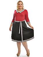 Платье большого размера трикотаж, фото 1