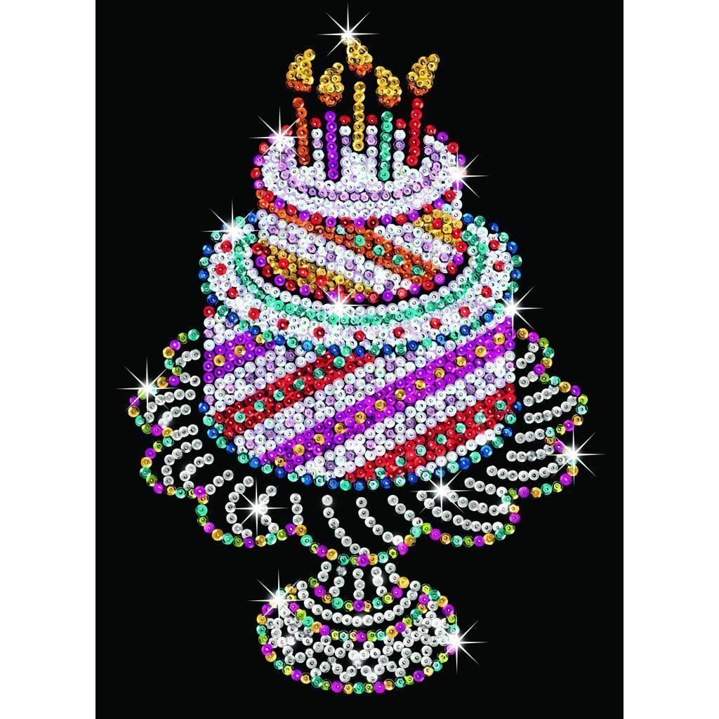 Набор для творчества Sequin Art ORANGE Birthday Cake (SA1506)