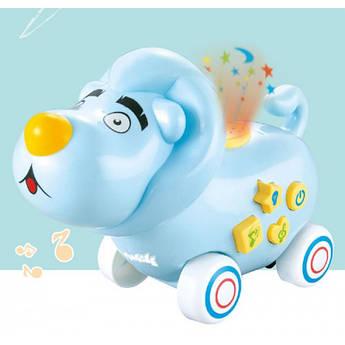 Игрушка Электронная Музыкальная Лед лампа Мультяшный лев D Jin Shang Lu Синий