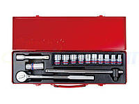 Набор торцевых головок дюймовых и ключей KING TONY 1/2quot;DR 3/8quot;-15/16quot;, 14 предметов (4014SR)