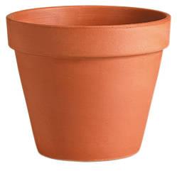 Горшок для растения Deroma Гладкий 34 х 39 см Коричневый 000004649, КОД: 358603