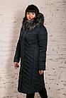 Удлиненное женское зимнее пальто батальных размеров сезон 2020 - (модель кт-652), фото 2