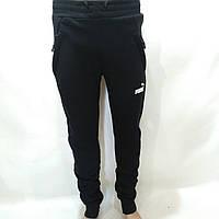 Спортивные штаны теплые Puma (пума) / темно-синие / флис, фото 1
