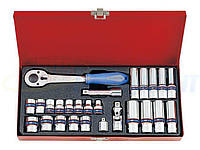 Набор торцевых головок и ключей KING TONY 3/8quot;DR 7-19 мм, 26 предметов (3027MR)