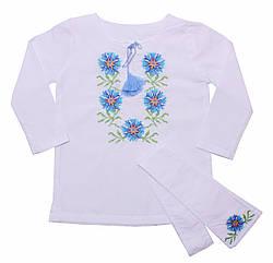 Блузка для девочек Valeri-Tex 1658-20-311-002 116 см Белый 1038, КОД: 1229270