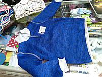 Свитер детский вязанный трикотаж на флисе р.86 - 98