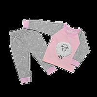 Пижама для девочки Dexters Барашек 26 Серо-розовый d9021, КОД: 1058904