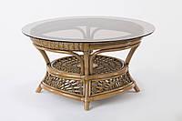 Кофейный столик Cruzo Ацтека натуральный ротанг Светло-коричневый d00288, КОД: 743104
