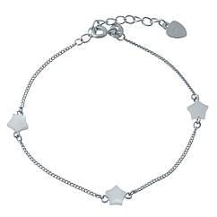 Серебряный браслет SilverBreeze с натуральным перламутром 17-20 см 1994313, КОД: 1195705