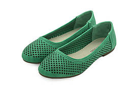 Жіночі балетки Lucky shoes 39 Green LS21-39, КОД: 1163056