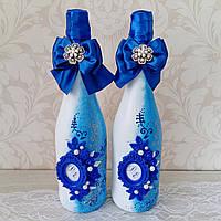 Свадебное шампанское декорированное, фото 1