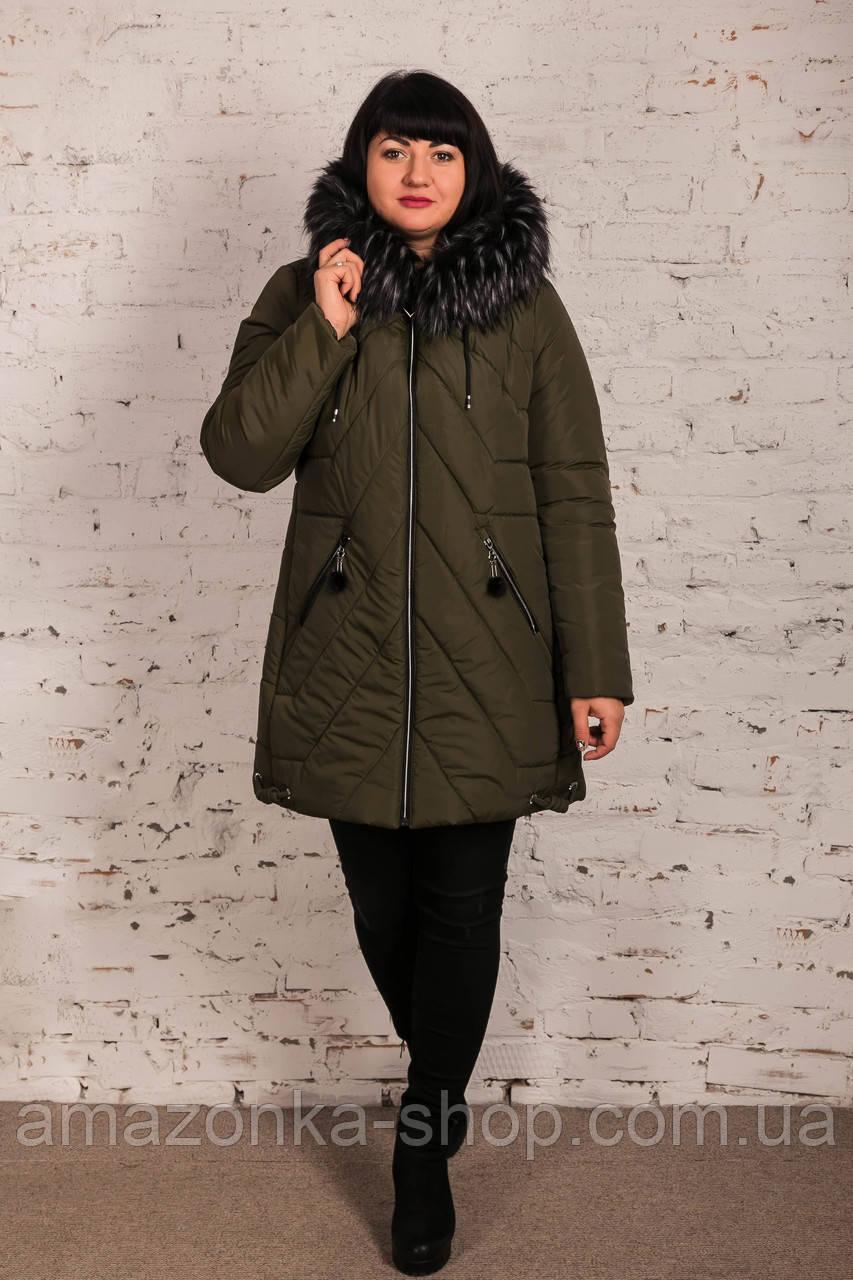 Женская куртка для женщин с экомехом на зиму сезон 2020 - (модель кт-696)