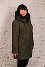 Женская куртка для женщин с экомехом на зиму сезон 2020 - (модель кт-696), фото 3