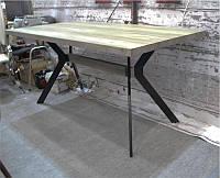 Стол Мюнхен DT-1409 прямоугольный 160х80 см на металлической опоре, для бара, кафе, ресторана