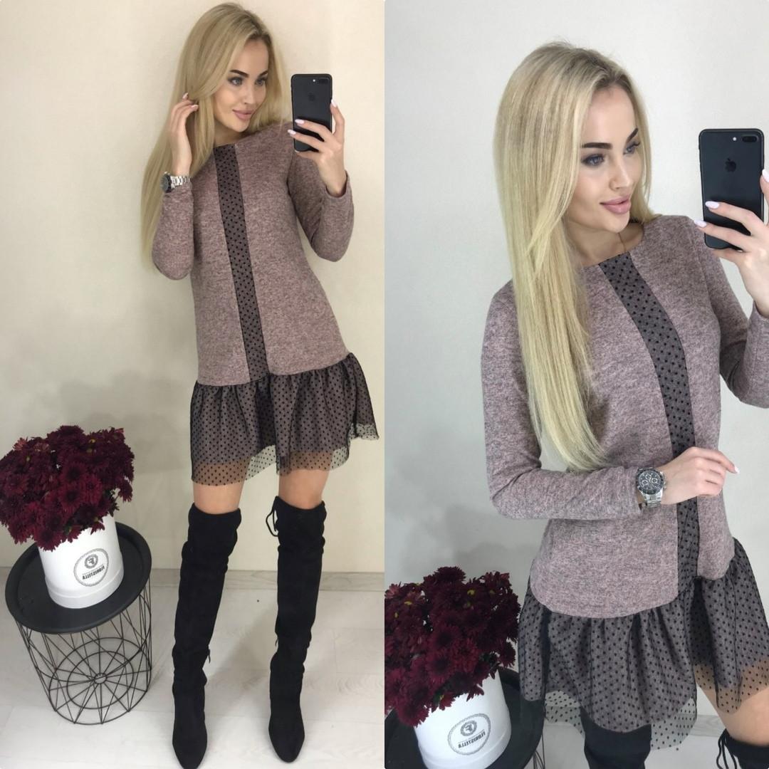 Платье стильное ангора