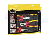 Набор шарнирно-губцевых инструментов электрика STANLEY quot;MaxSteel VDE 1000Vquot;, 4 шт. (4-84-489)