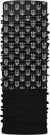 Зимовий бафф Бандана-трансформер двошаровий Тризуб Чорно-сірий ZBT-2f-069, КОД: 132017