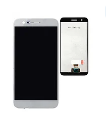 Дисплей (экран) для LG X400 K10 (2017) с сенсором (тачскрином) белый