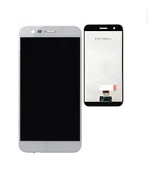 Дисплей (экран) для LG X400 K10 (2017) с сенсором (тачскрином) белый, фото 2