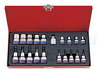 Набор торцевых головок KING TONY Torx/E-TORX, 20 предметов (7120PR)