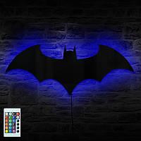 Зеркало-ночник RGB BATMAN Бэтмен с пультом управления