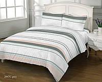 Комплект постельного белья Zastelli бязь двуспальный 2847 C GREY GOLD USA арт.16308