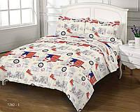Комплект постельного белья Zastelli бязь двуспальный 7282-1 GOLD USA арт.16150