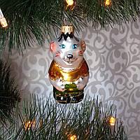 Стеклянная игрушка Мышонок Круть, фото 1
