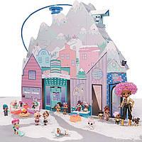 Игровой меганабор домик для кукол ЛОЛ L.O.L. SURPRISE! серии Winter Disco Зимний особняк 562207, фото 1