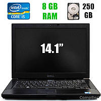 "Dell Latitude E6410 / 14.1"" (1440x900) / Intel Core i5-520M (2(4)ядра по 2.40-2.93GHz) / 8 GB DDR3 / 250 GB HDD / DVD-RW"