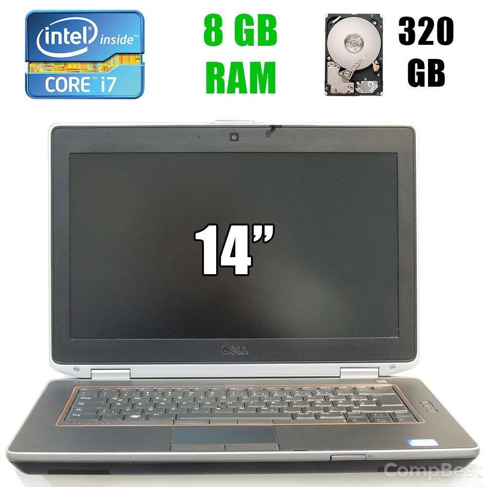 "Dell Latitude E6420 / 14"" (1600x900) LED / Intel Core i7-2640M (2(4)ядра по 2.80-3.50GHz) / 8 GB DDR3 / 320 GB HDD / DVD-RW, Web-camera"