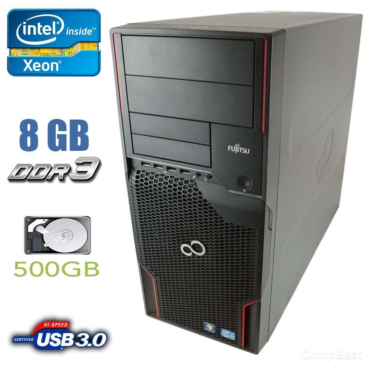 Fujitsu Celsius M720 / Intel Xeon E5-1620 (4 (8) ядер по 3.6 - 3.8 GHz) / 8 GB DDR3 / 500 GB HDD / nVidia Quadro / USB 3.0