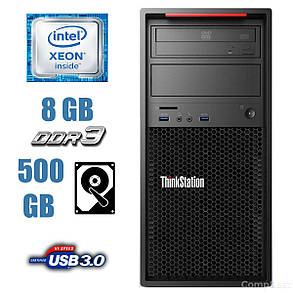 Lenovo ThinkStation P300 / Intel Xeon E3-1220 v3 (4 ядра по 3.1-3.5GHz) / 8 GB DDR3 / 500 GB HDD / nVidia Quadro / USB 3.0, фото 2