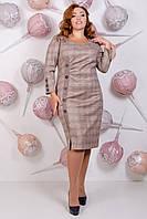 Платье повседневное классическое очень красивое, осень-зима р.54,56 код 2636М
