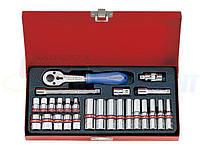 Набор торцевых головок дюймовых и ключей KING TONY 1/4quot;DR 5/32quot;-1/2quot;, 26 предметов (2526SR)
