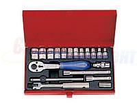 Набор торцевых головок и ключей KING TONY 1/4quot;DR 4-13 мм, 19 предметов (2521MR)