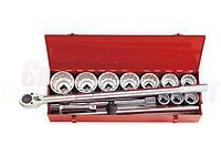 Набор торцевых головок и ключей дюймовых KING TONY 1quot;DR 1-7/16quot;-3-1/8quot;, 14 предметов (8015SR)