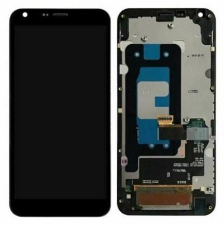 Дисплей (экран) для LG M700N Q6 Dual Sim с сенсором (тачскрином) и рамкой черный Оригинал