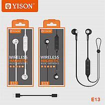 Беспроводные вставные Bluetooth наушники Yison E13 Wireless Magnetic Music Earphones Black, фото 3
