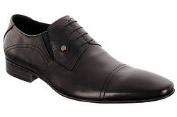 Туфли на высокий подъем мужские черные кожаные итальянские  LOUIS ALBERTI 9936-35-997  скидка