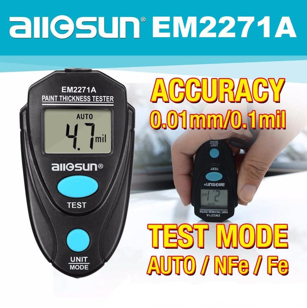 NEW! Allosun EM2271A толщиномер тестор краски обновленная версия ЕМ2271(Защита от покупки перекрашенного АВТО)