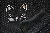 Лосины детские зимние, на меху SmileTime White Dots Kitten, черные, фото 7