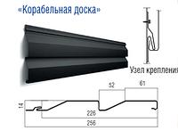 Металлосайдинг  - корабельная доска  0,5 мм RAL 9005,3005,8017,7024 matt Польша