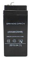 Аккумуляторная батарея PWE 4V 4.0Ah Черный hubnp21296, КОД: 905623