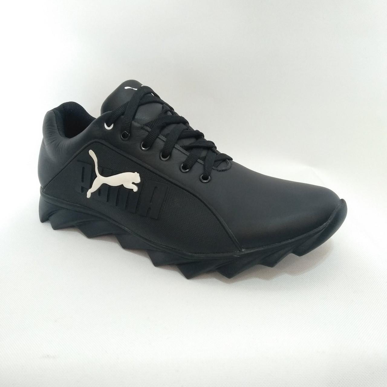 Мужские кожаные кроссовки Puma / черные 43,44 р
