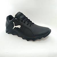 Мужские кожаные кроссовки Puma / черные 43,44 р, фото 1