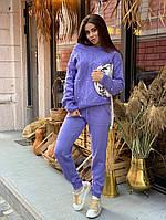 Костюм женский стильный теплый кофта под горло и брюки Dok1961